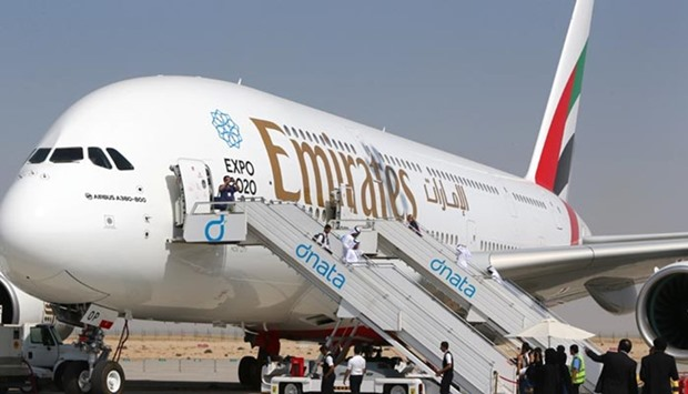 Emirates A380 for Doha flight