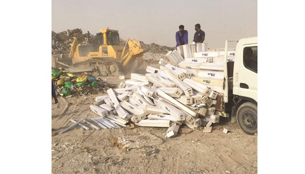 Fake electrical goods destroyed