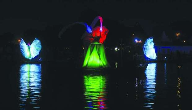 Festival transforms Aspire Lake into stunning piece of art, enthrals visitors
