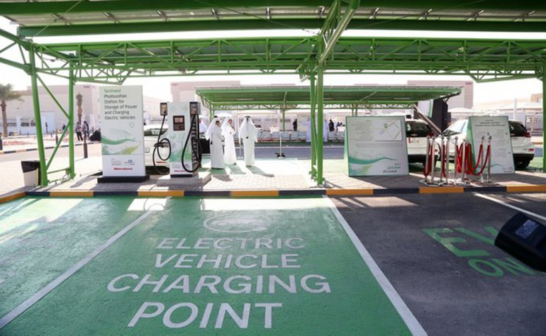 First solar charging station in Qatar for electric vehicles opens