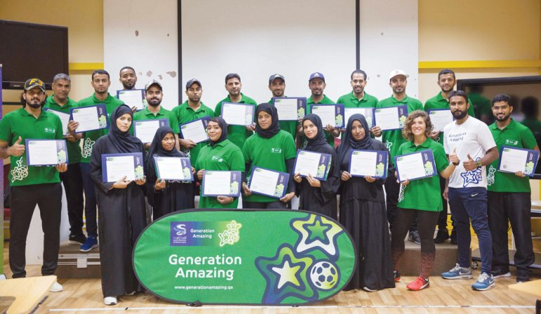 Generation Amazing rolling out 'football for development' programme in 70 primary schools across Qatar & Oman
