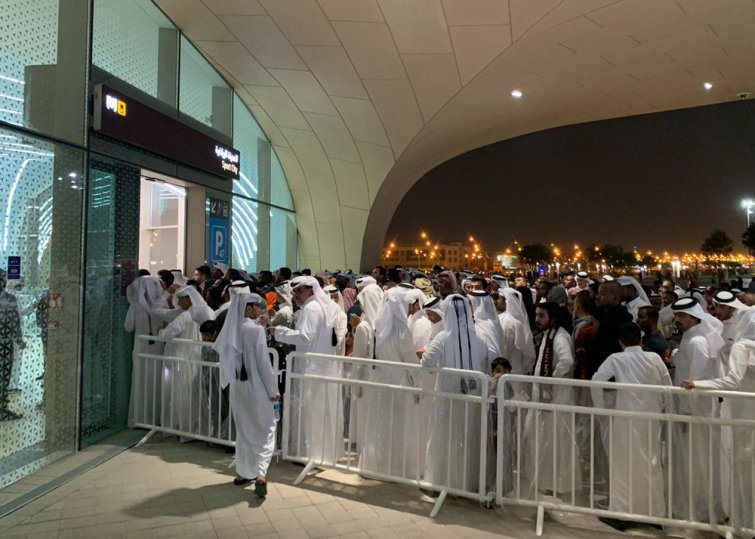 High traffic recorded as thousands of football fans opt for Doha Metro