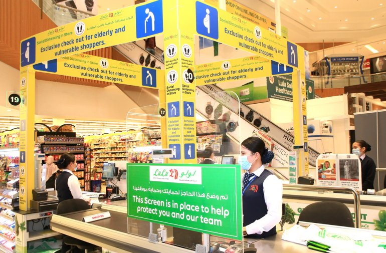 Lulu Hypermarkets to install shields to protect cashiers and customers