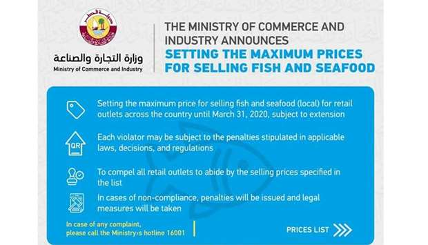 MoCI sets max prices for fish, fruits, veg