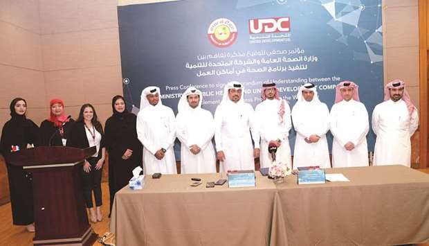 MoPH, UDC sign pact to implement workplace wellness programme
