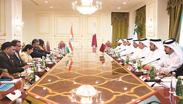 Qatar and India sign declaration  to establish joint commission