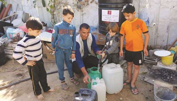 Qatar Charityق€™s water projects assist 7,000 families in Gaza