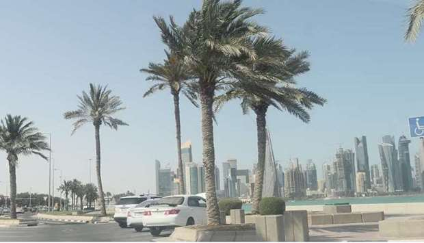Strong winds, blowing dust Monday