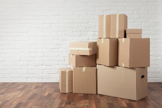 moving boxes for seniors downsizing to a senior living community