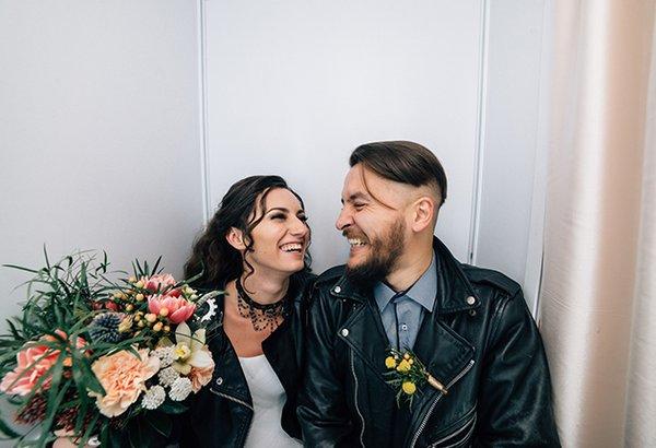 Casamento moderninho, noiva estilosa
