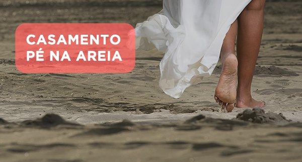 """Casamento """"Pé na Areia"""""""