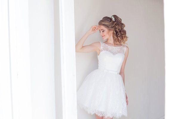Vestido de noiva curto? Hãn?