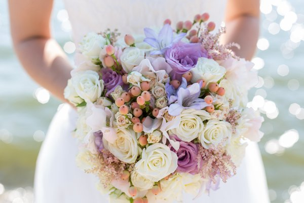 As flores do meu casamento.