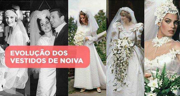 A evolução dos vestidos de noiva