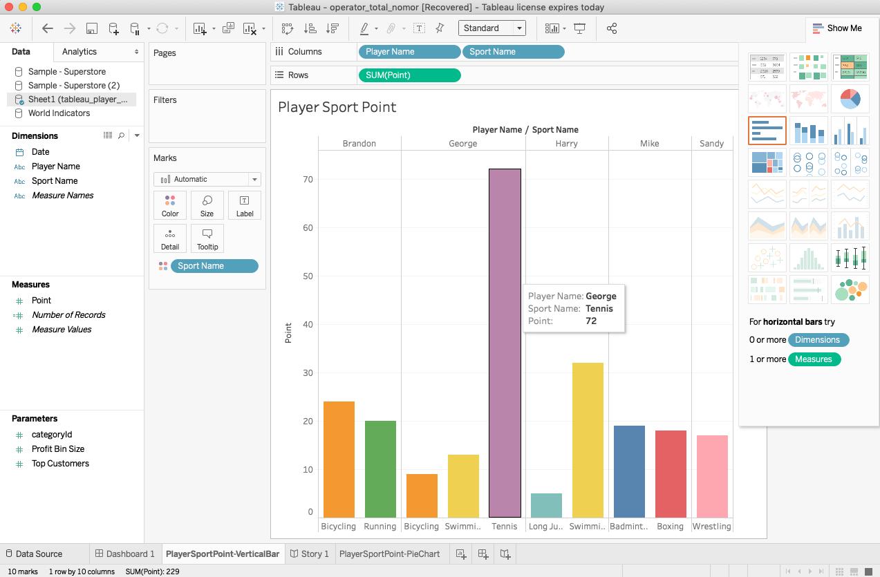 tableau data visualization vertical bar