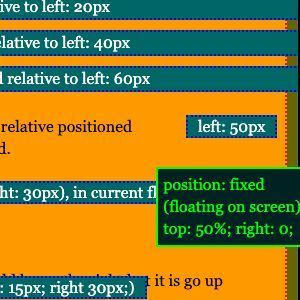 How to use CSS position in HTML?