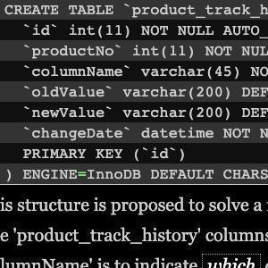 How to track data changes and keep history data?