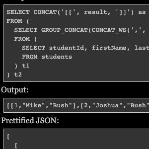 How to convert MySQL query result to JSON?