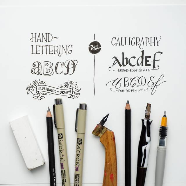 calligraphy supplies