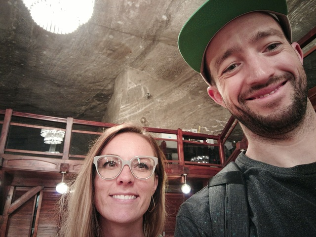 Chris and Melissa in the salt mines