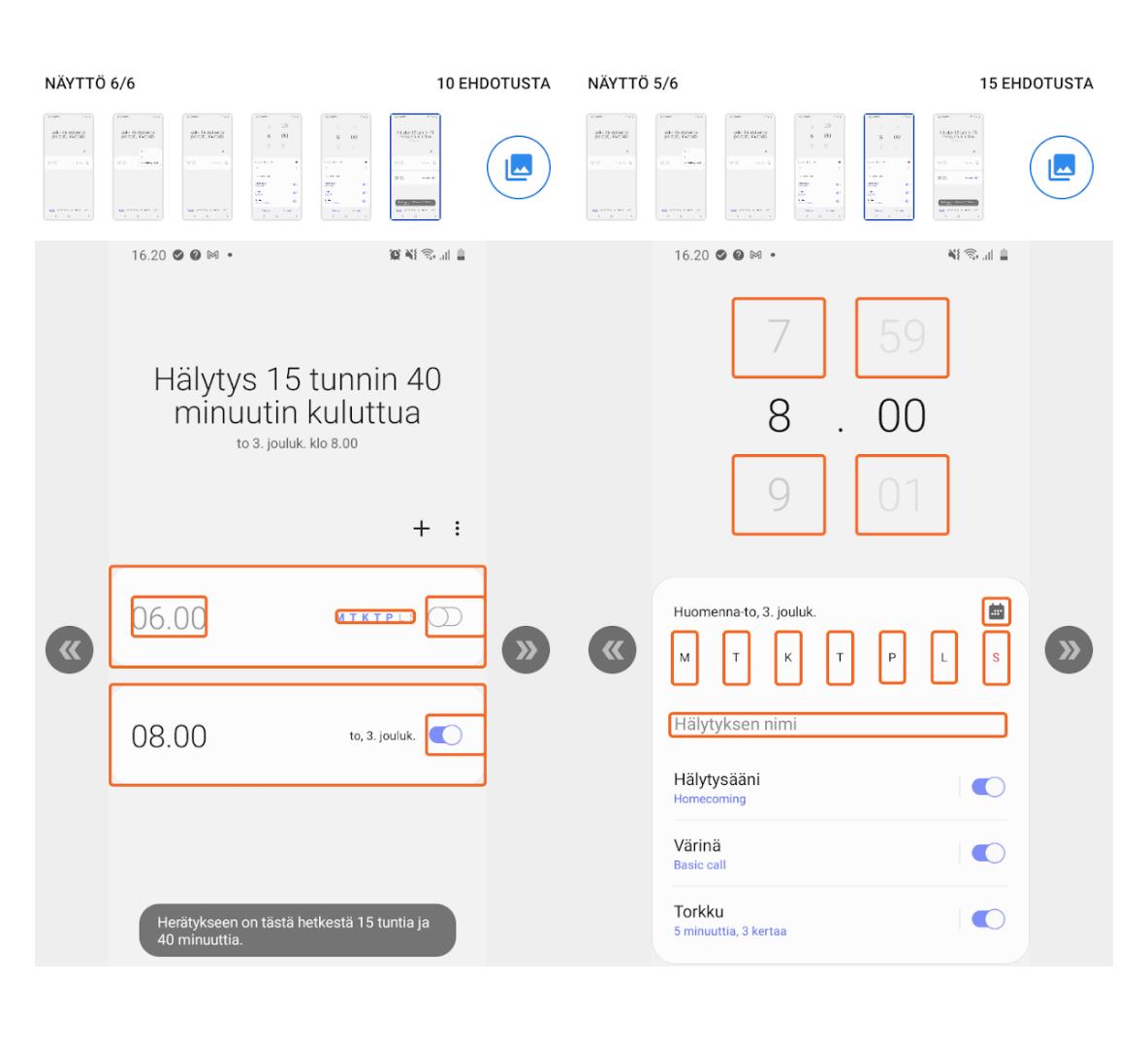 kuvaruutukaappaus Google Accessibility Checker ohjelmasta