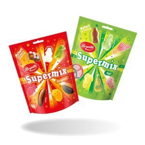 Supermix Original & Sour 2 kpl 5 €