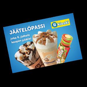 Jäätelöpassilla joka 6. jäätelö kaupan päälle!