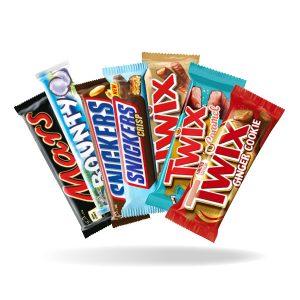 Mars, Snickers, Twix ja Bounty patukat 4 kpl 2,50