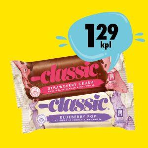 Classic jäätelöt 1,29 €/kpl