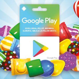 Google Play - lahjakortit Ärrältä