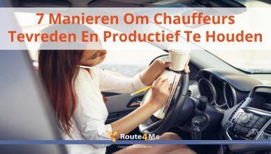 7 Manieren Om Chauffeurs Tevreden En Productief Te Houden