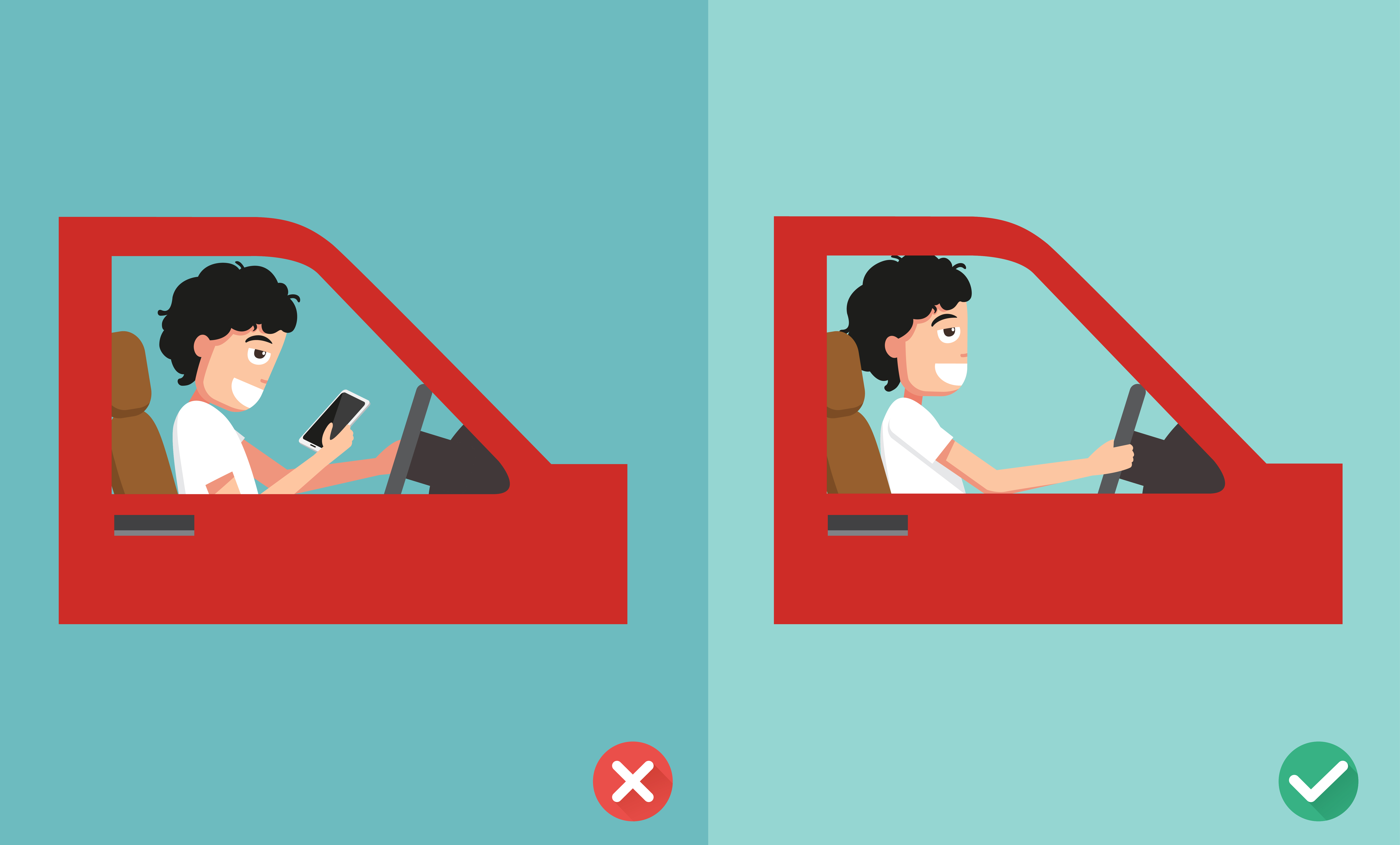 Say no to multitasking while on the driving seat.