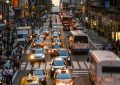 Commuters crossing 42nd Street in New York City, USA