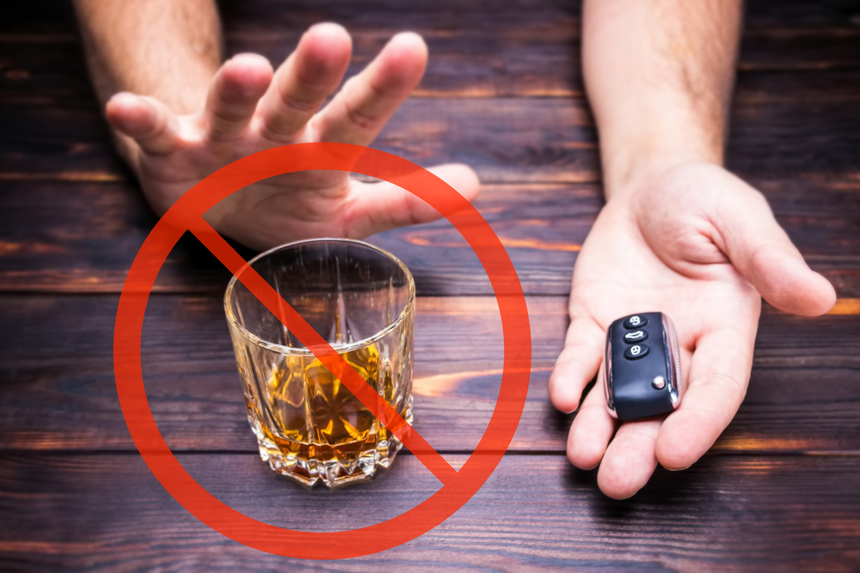 Say no to driving while on alcohol