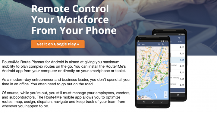 What is the Route4Me Route Planner for Android?