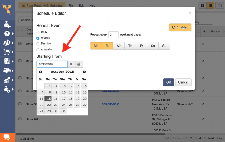 Scheduling Recurring Address Book Contacts
