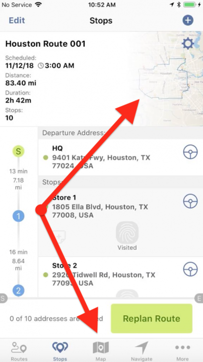 Viewing Your Routes on a Map on an iPhone