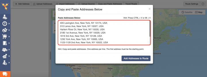 Copy-and-Paste - Planning Routes by Copying and Pasting Addresses