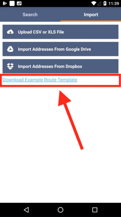 Adding Stops to a Route on an Android Device