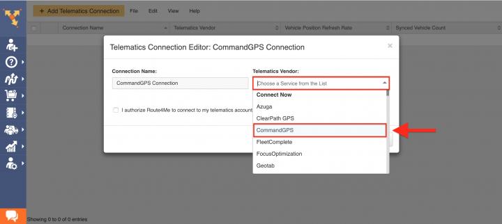 Route4Me's Telematics Integration with CommandGPS