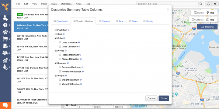 Using and Customizing the Summary Table