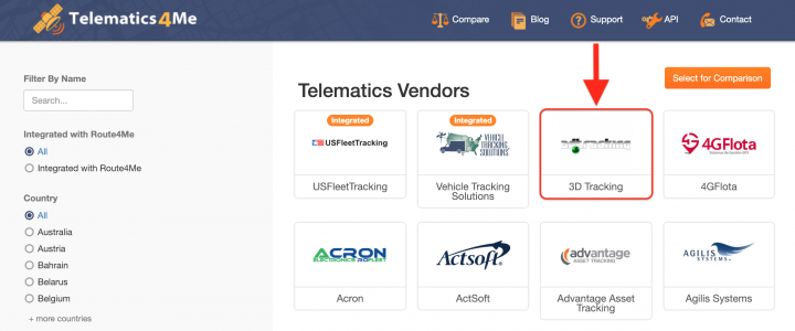 Route4Me Integrations with Telematics Vendors