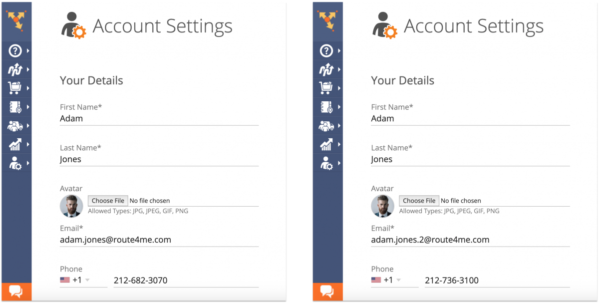Managing Your Route4Me Web Account Settings