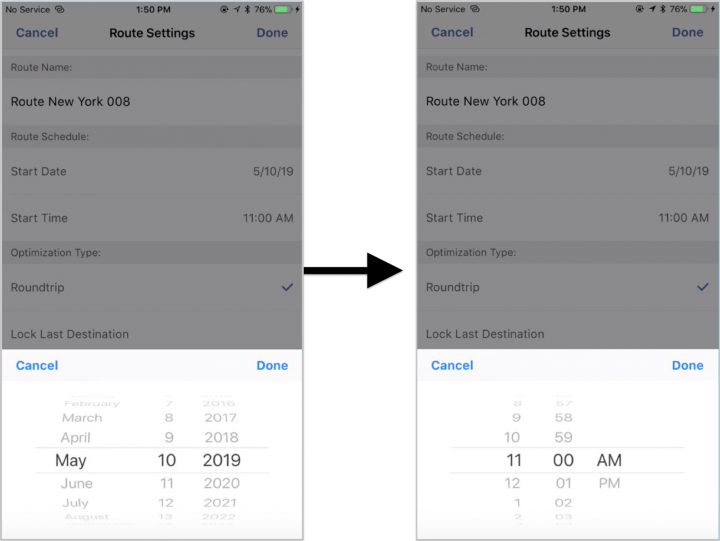 Planning a New Route on Your iPhone