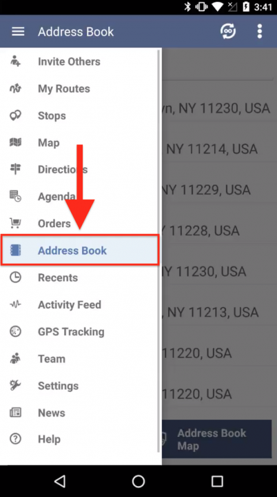 Adding a New Contact to your Address Book on an Android Device