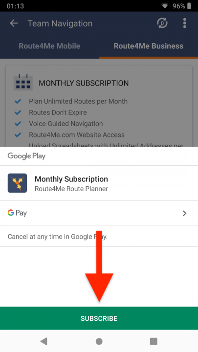 Upgrading Your Subscription Plan on an Android Device