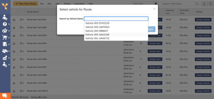 Assigning Users and Vehicles to Routes
