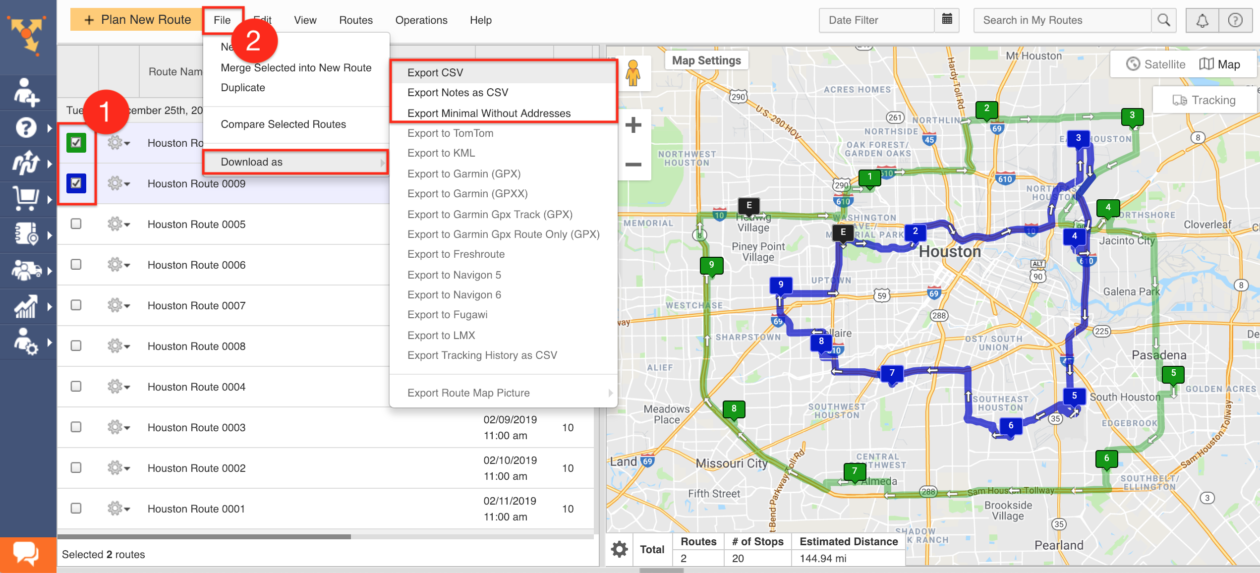 Detailed Route Data Export - Route4Me Support