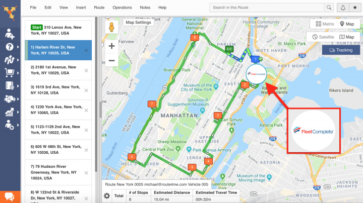 Route4Me's Telematics Integration with Fleet Complete