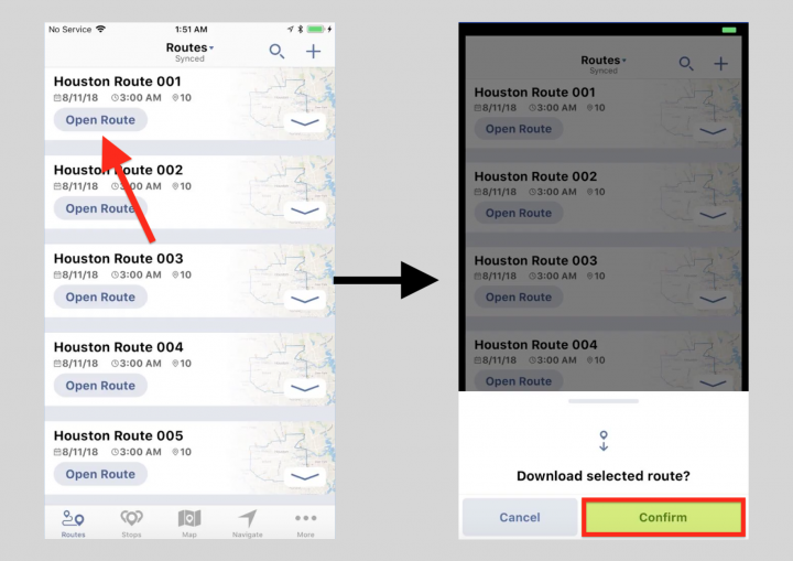 Adjusting the Settings of a Route on an iPhone